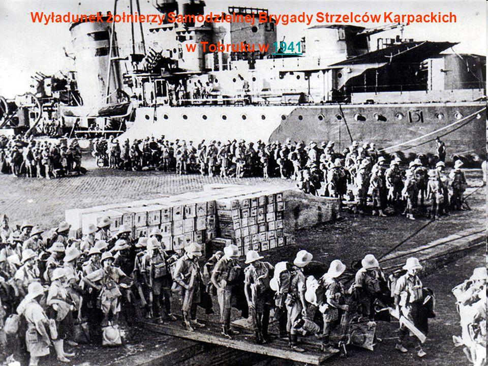 Wyładunek żołnierzy Samodzielnej Brygady Strzelców Karpackich w Tobruku w 19411941