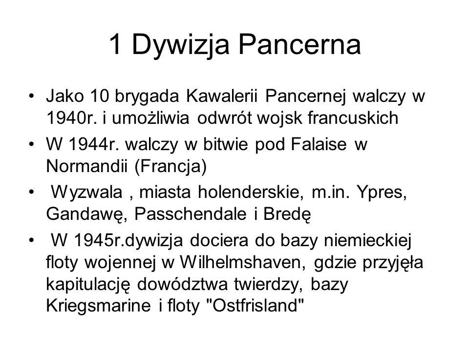 1 Dywizja Pancerna Jako 10 brygada Kawalerii Pancernej walczy w 1940r.
