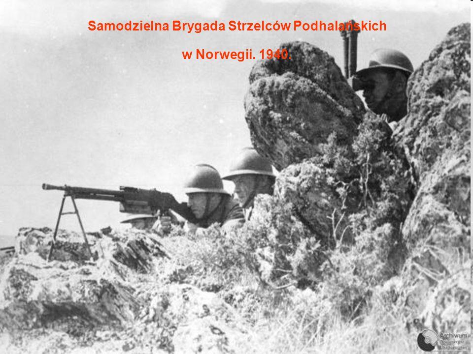 Samodzielna Brygada Strzelców Podhalańskich w Norwegii. 1940.