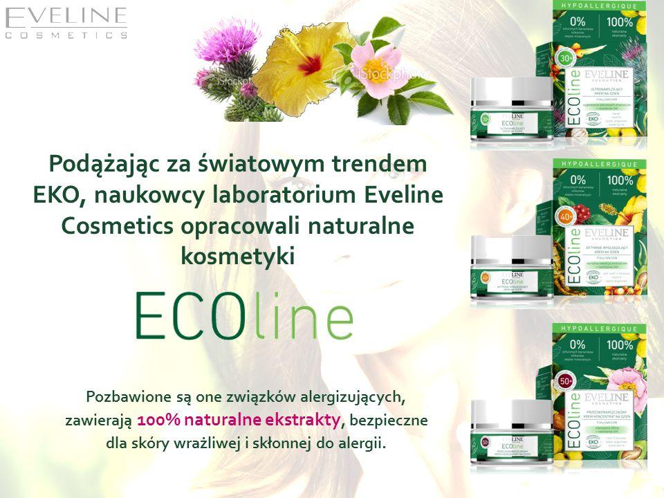 Podążając za światowym trendem EKO, naukowcy laboratorium Eveline Cosmetics opracowali naturalne kosmetyki Pozbawione są one związków alergizujących,