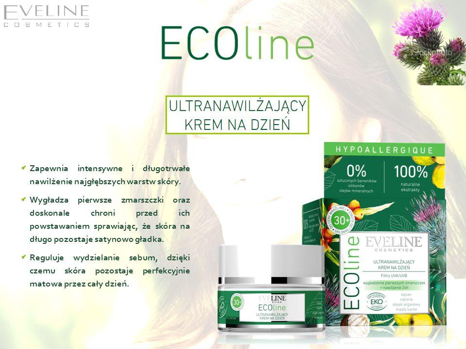Zapewnia intensywne i długotrwałe nawilżenie najgłębszych warstw skóry. Wygładza pierwsze zmarszczki oraz doskonale chroni przed ich powstawaniem spra