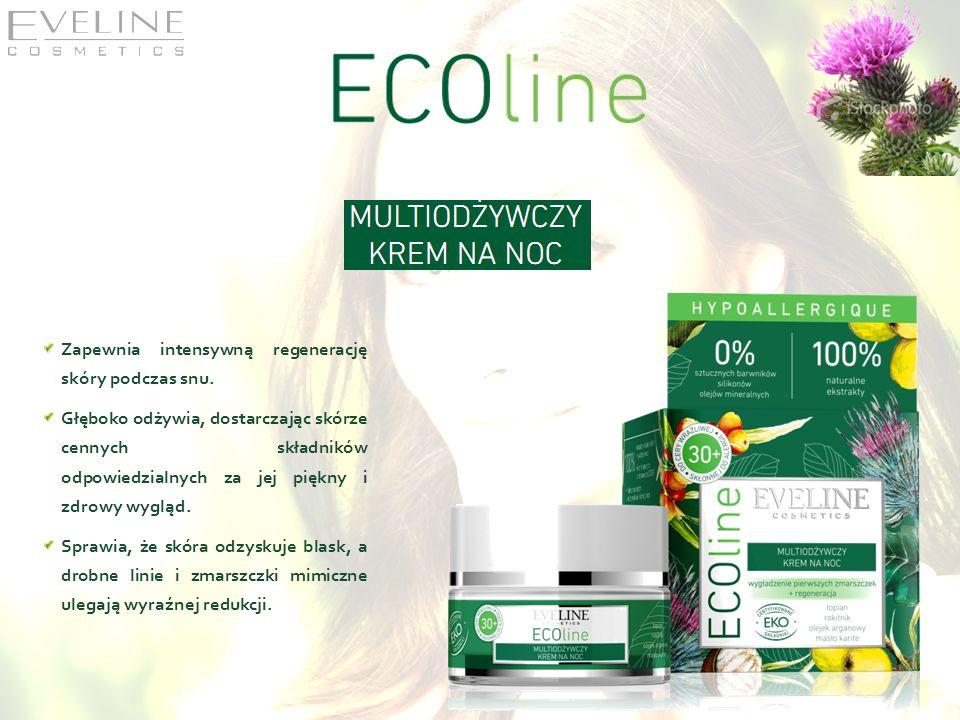 Zapewnia intensywną regenerację skóry podczas snu. Głęboko odżywia, dostarczając skórze cennych składników odpowiedzialnych za jej piękny i zdrowy wyg