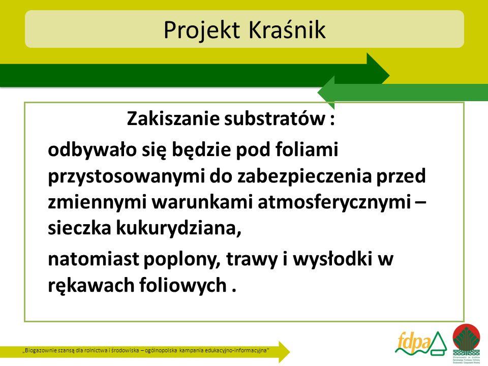 Biogazownie szansą dla rolnictwa i środowiska – ogólnopolska kampania edukacyjno-informacyjna Projekt Kraśnik Zakiszanie substratów : odbywało się będ