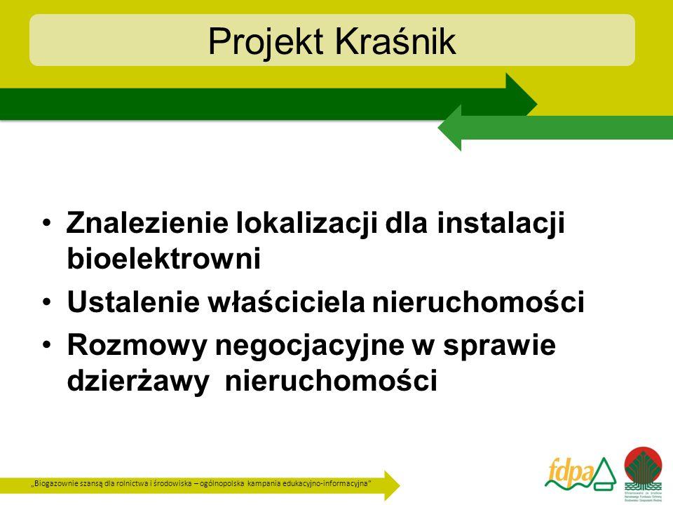 Biogazownie szansą dla rolnictwa i środowiska – ogólnopolska kampania edukacyjno-informacyjna Znalezienie lokalizacji dla instalacji bioelektrowni Ust