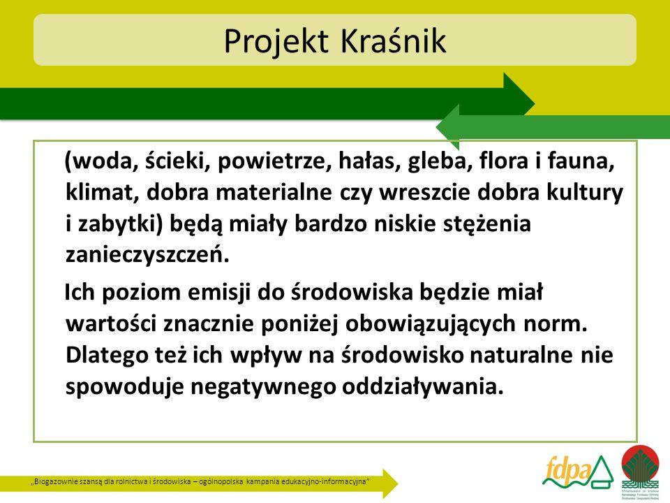 Biogazownie szansą dla rolnictwa i środowiska – ogólnopolska kampania edukacyjno-informacyjna Projekt Kraśnik (woda, ścieki, powietrze, hałas, gleba,