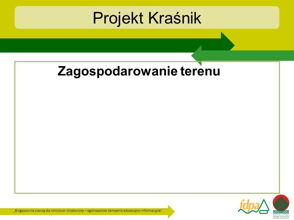Biogazownie szansą dla rolnictwa i środowiska – ogólnopolska kampania edukacyjno-informacyjna Projekt Kraśnik Zagospodarowanie terenu