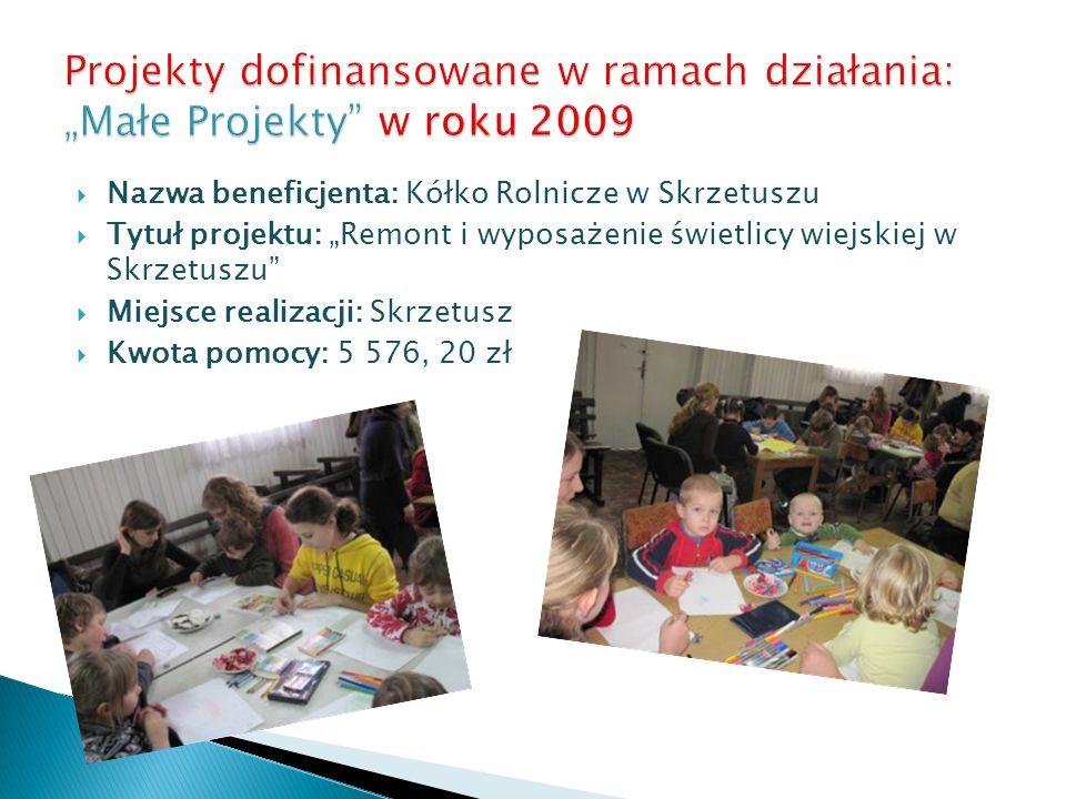 Nazwa beneficjenta: Parafia Rzymsko – Katolicka p.w.