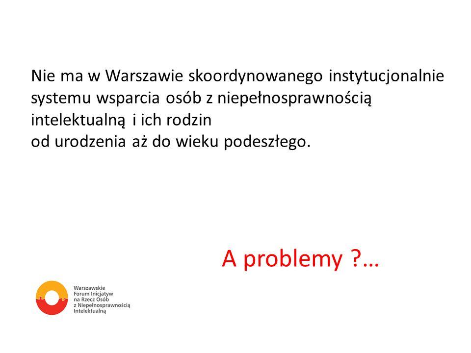 Nie ma w Warszawie skoordynowanego instytucjonalnie systemu wsparcia osób z niepełnosprawnością intelektualną i ich rodzin od urodzenia aż do wieku po