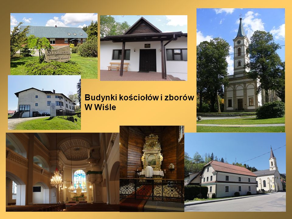 Budynki kościołów i zborów W Wiśle