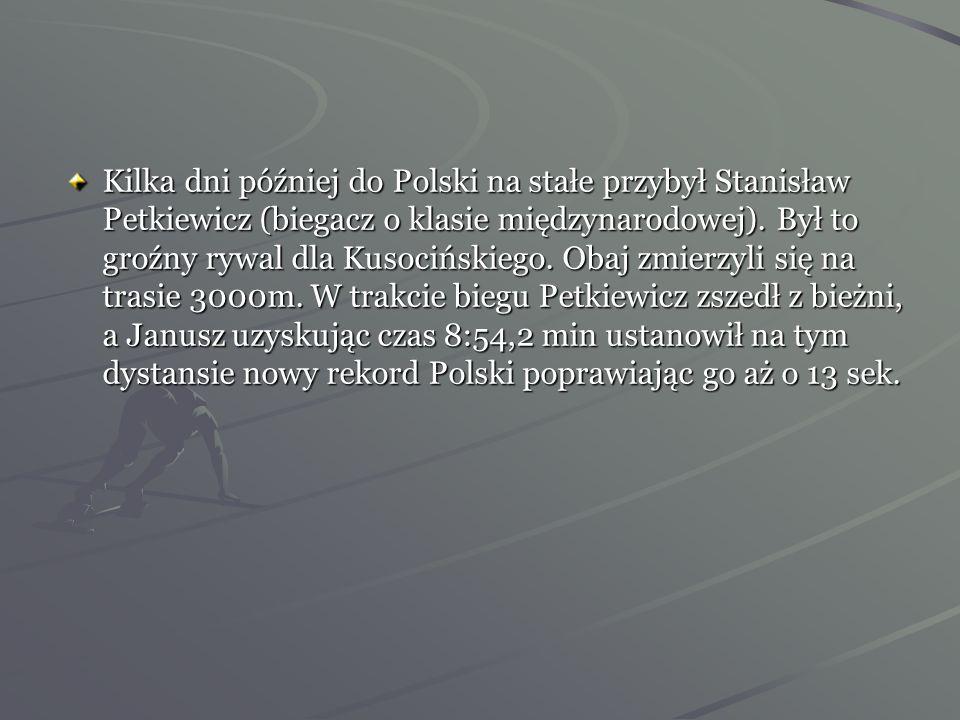 8 września 1928 rok - pierwsze Mistrzostwa Polski. Janusz Kusociński zgłosił swój udział w biegu na 5000m. W tej trasie prowadził od startu do mety po