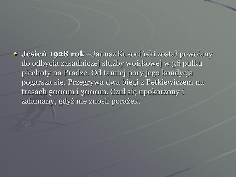 Jedne z ćwiczeń rozgrzewających Janusza