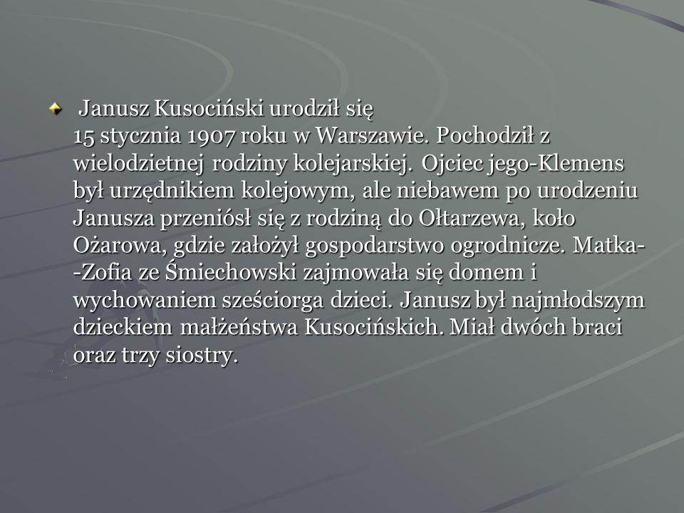 Dom rodzinny- -młodość i sport Kształcić duszę cnotami, umysł słowami, a ciało sportem -J. Kusociński
