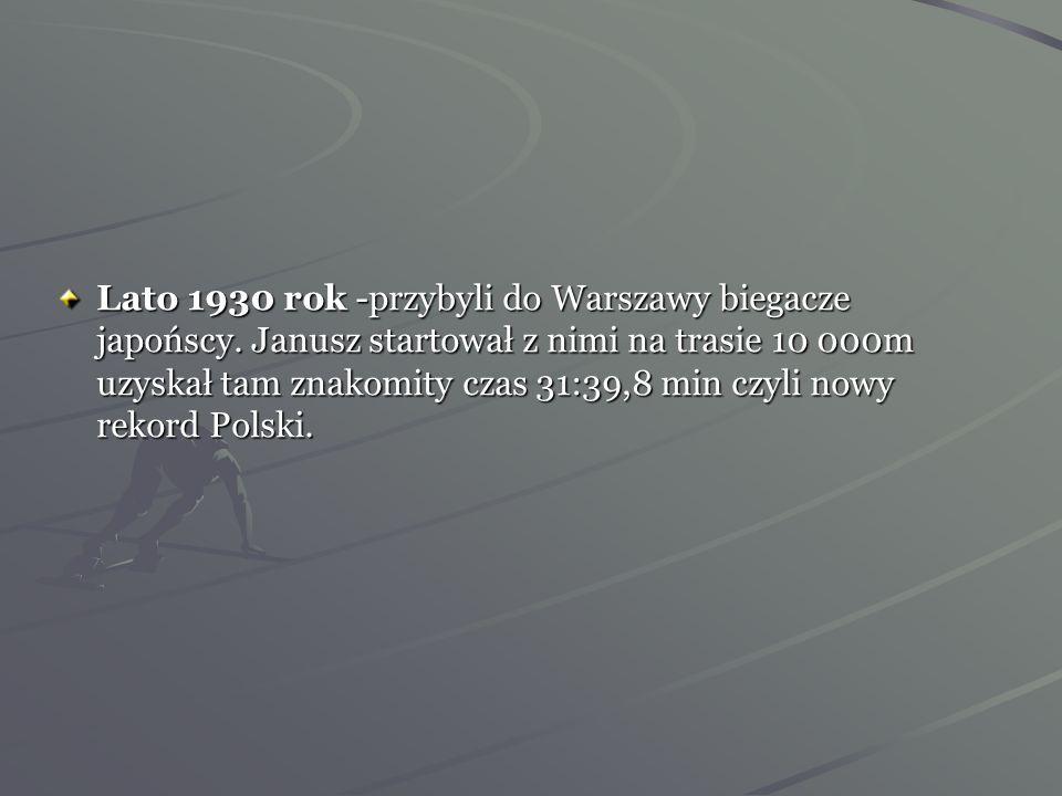 Jako cywil Janusz statrował w tradycyjnym Trójmeczu Bałtyckim w Tallinie, gdzie w ciągu dwóch dni wygrał biegi na 800, 1500, 5000 i 10000 m, uzyskując