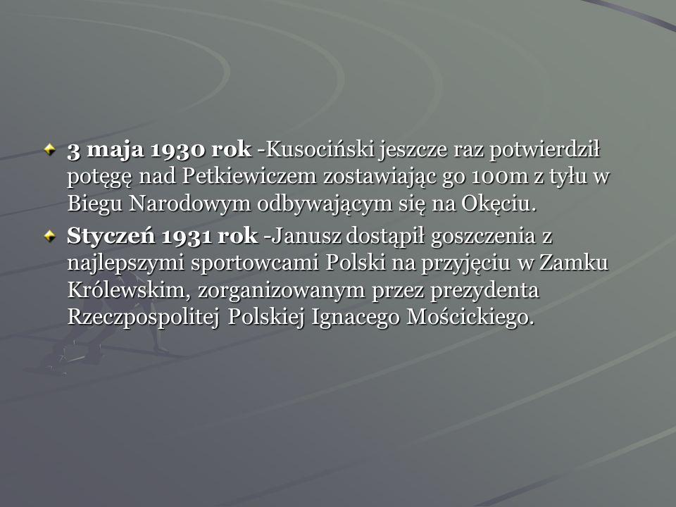 Kusociński już w 1930 roku zaliczał się do czołówki długodystansowców świata. Jego trener Aleksander Klumberg (na zdjęciu) był pełen podziwu dla niezw