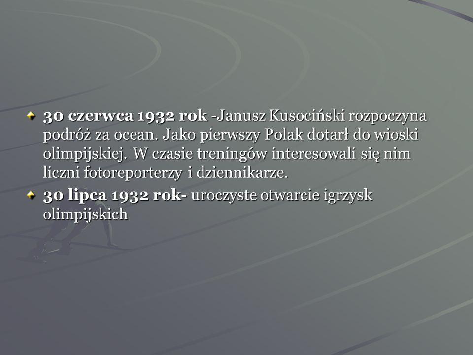 Olimpiada w Los Angeles Mógłbym paść, byle tylko zwyciężyć -J. Kusociński