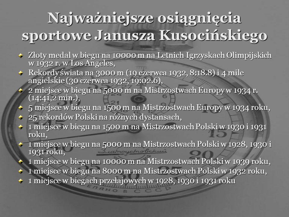 Jesienią 1932 roku do Warszawy przybył Iso Hollo, chcąc wziąć rewanż za przegrany bieg w Los Angeles. W biegu na 10 000m Janusz zwyciężył Fina z przew