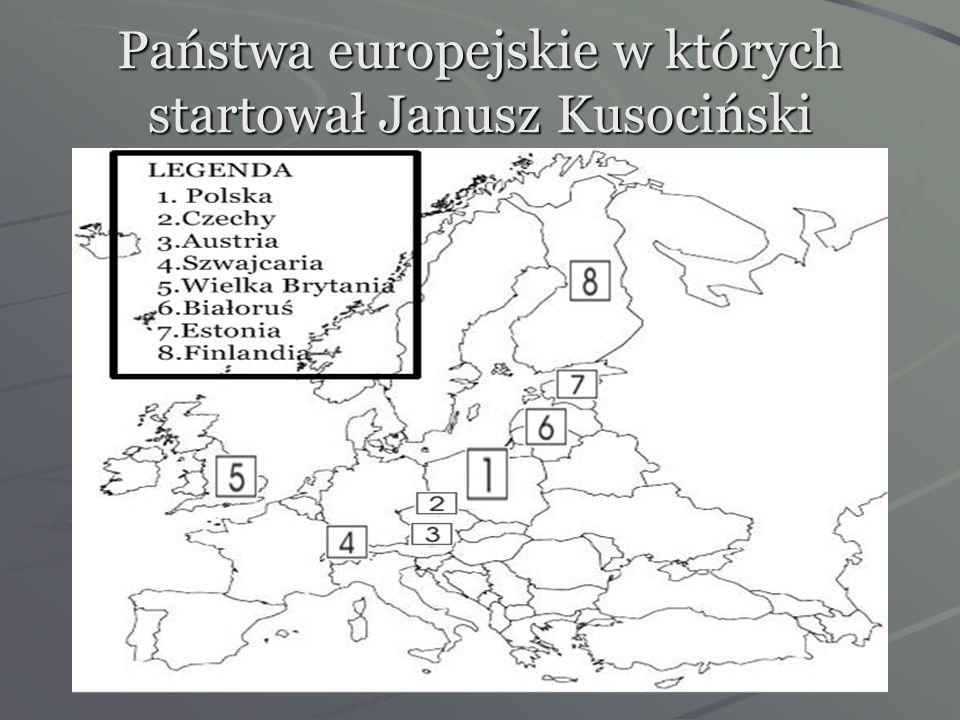 Najważniejsze osiągnięcia sportowe Janusza Kusocińskiego Złoty medal w biegu na 10000 m na Letnich Igrzyskach Olimpijskich w 1932 r. w Los Angeles, Re