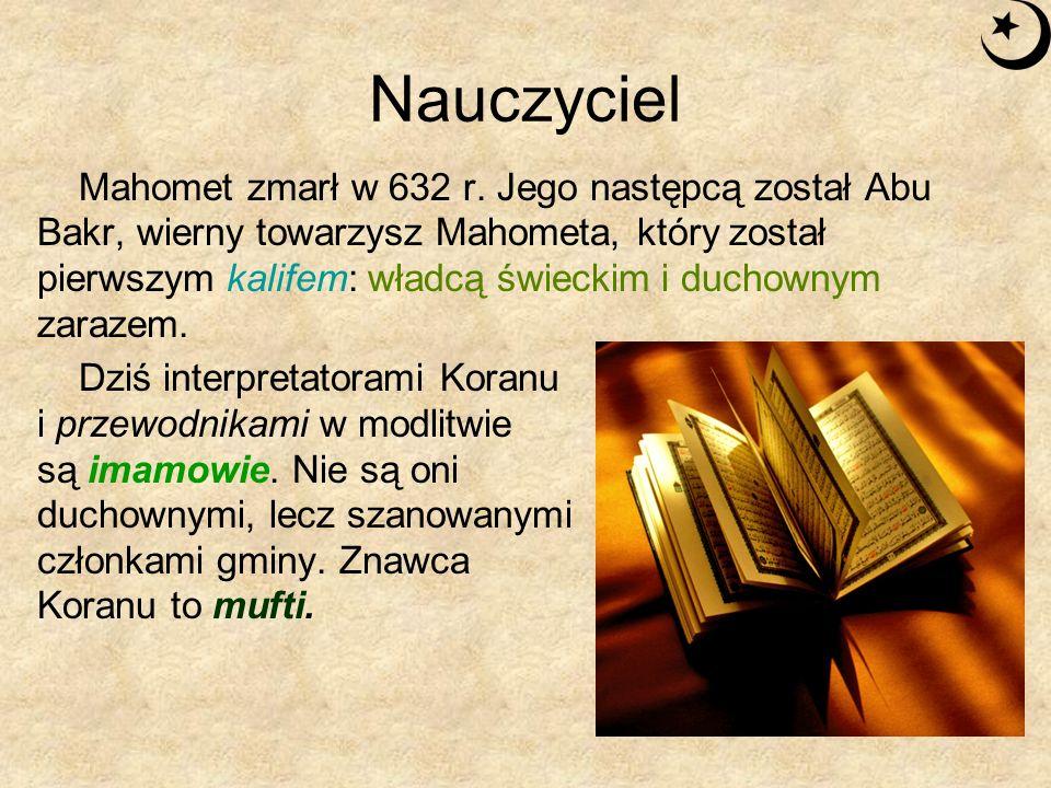 Święte pisma: Koran Księga święta islamu to Koran – ostatnie objawienie Boga.