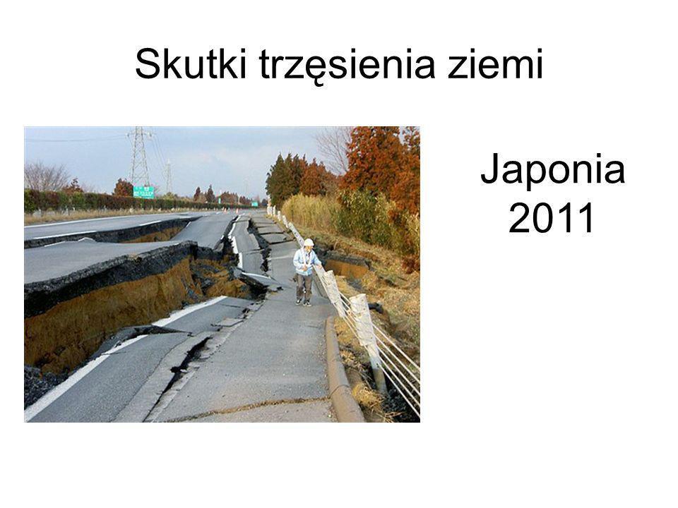 Skutki trzęsienia ziemi Japonia 2011