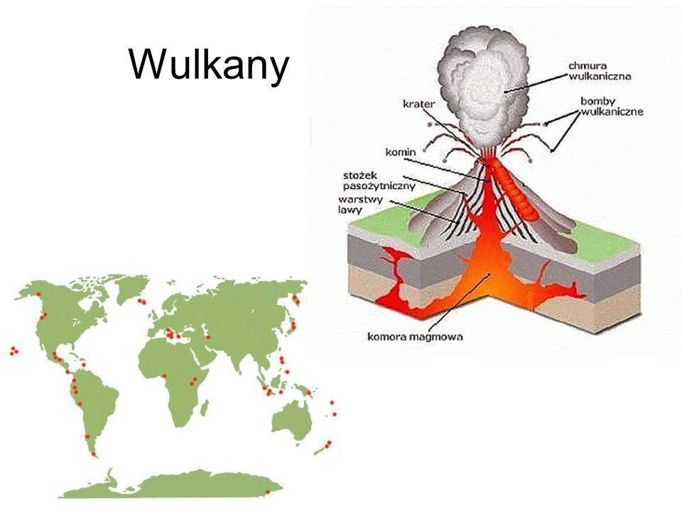 Ćwiczenie - erupcja wulkanu Przy pomocy octu, sody oraz barwnika (soku malinowego) i kubeczków jednorazowych tworzymy własne czynne wulkany.