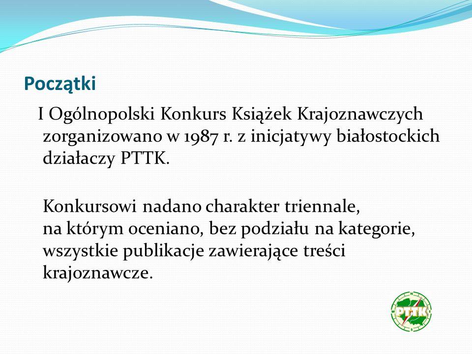 Początki I Ogólnopolski Konkurs Książek Krajoznawczych zorganizowano w 1987 r.