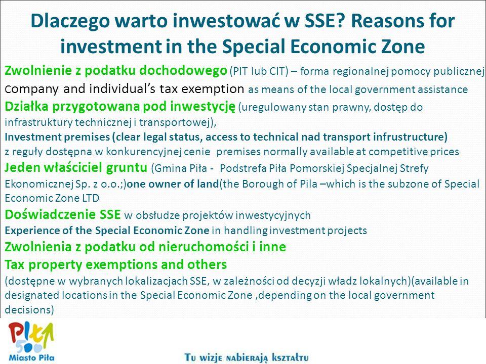 Dlaczego warto inwestować w SSE? Reasons for investment in the Special Economic Zone Zwolnienie z podatku dochodowego (PIT lub CIT) – forma regionalne