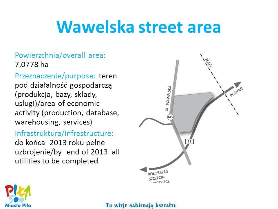 Powierzchnia/overall area: 7,0778 ha Przeznaczenie/purpose: teren pod działalność gospodarczą (produkcja, bazy, składy, usługi)/area of economic activ