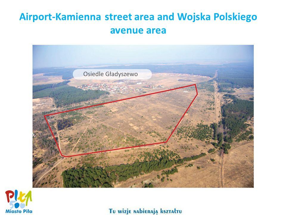 Airport-Kamienna street area and Wojska Polskiego avenue area