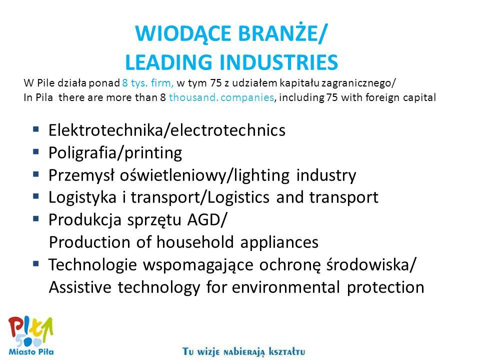 Elektrotechnika/electrotechnics Poligrafia/printing Przemysł oświetleniowy/lighting industry Logistyka i transport/Logistics and transport Produkcja s