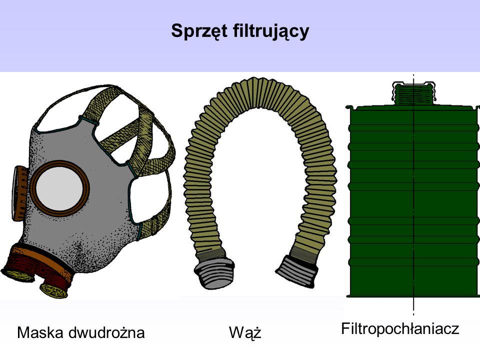 Sprzęt filtrujący Maska dwudrożna Filtropochłaniacz Wąż