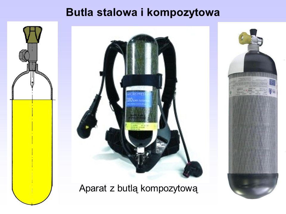 Butla stalowa i kompozytowa Aparat z butlą kompozytową