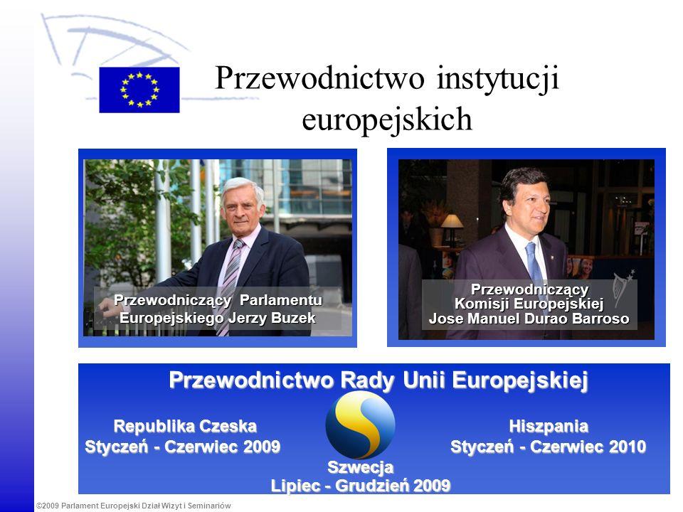 ©2009 Parlament Europejski Dział Wizyt i Seminariów Przewodnictwo instytucji europejskich Przewodnictwo Rady Unii Europejskiej Szwecja Lipiec - Grudzi