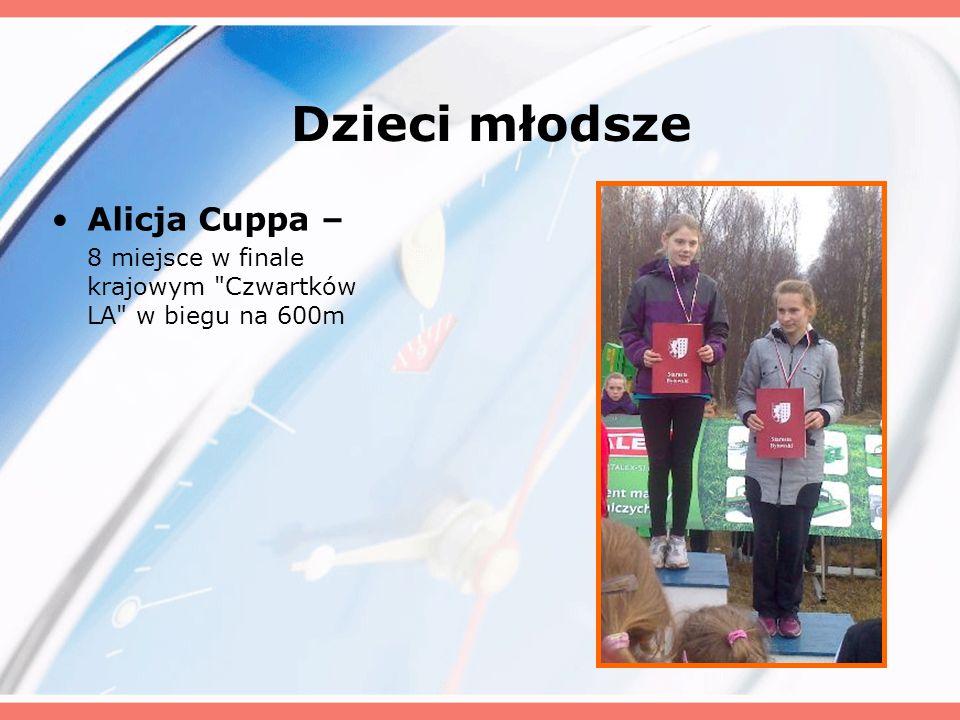 Dzieci młodsze Alicja Cuppa – 8 miejsce w finale krajowym