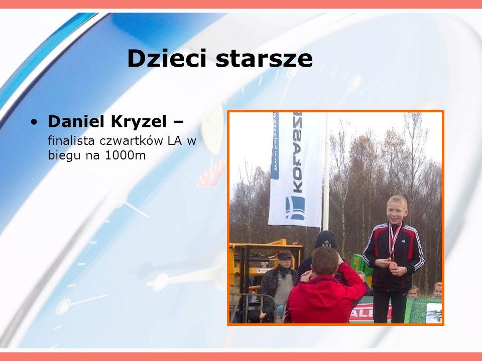 Dzieci starsze Daniel Kryzel – finalista czwartków LA w biegu na 1000m