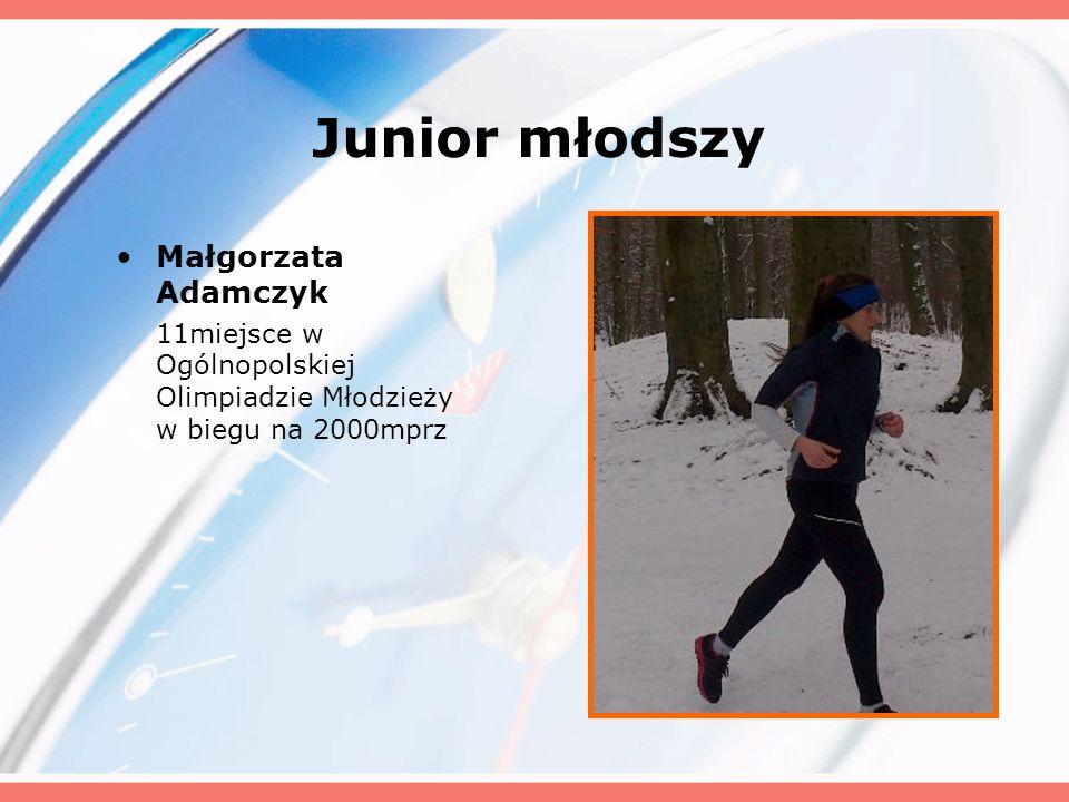 Junior młodszy Małgorzata Adamczyk 11miejsce w Ogólnopolskiej Olimpiadzie Młodzieży w biegu na 2000mprz