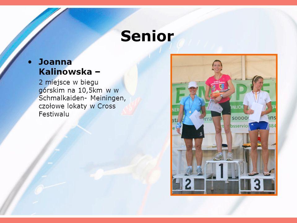 Senior Joanna Kalinowska – 2 miejsce w biegu górskim na 10,5km w w Schmalkaiden- Meiningen, czołowe lokaty w Cross Festiwalu