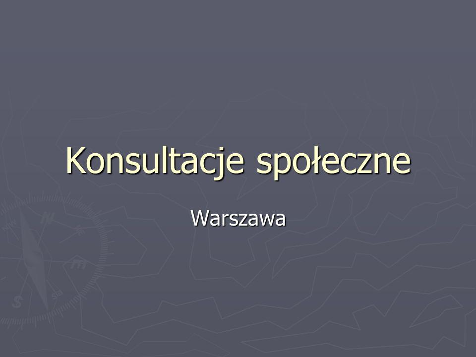 Konsultacje społeczne Warszawa