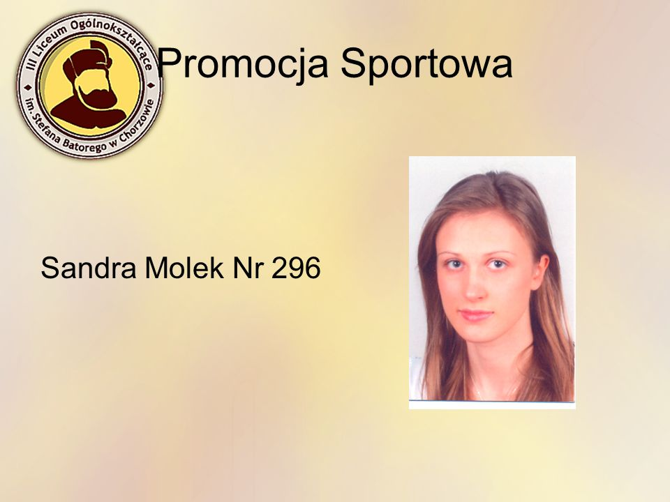 Promocja Sportowa Sandra Molek Nr 296