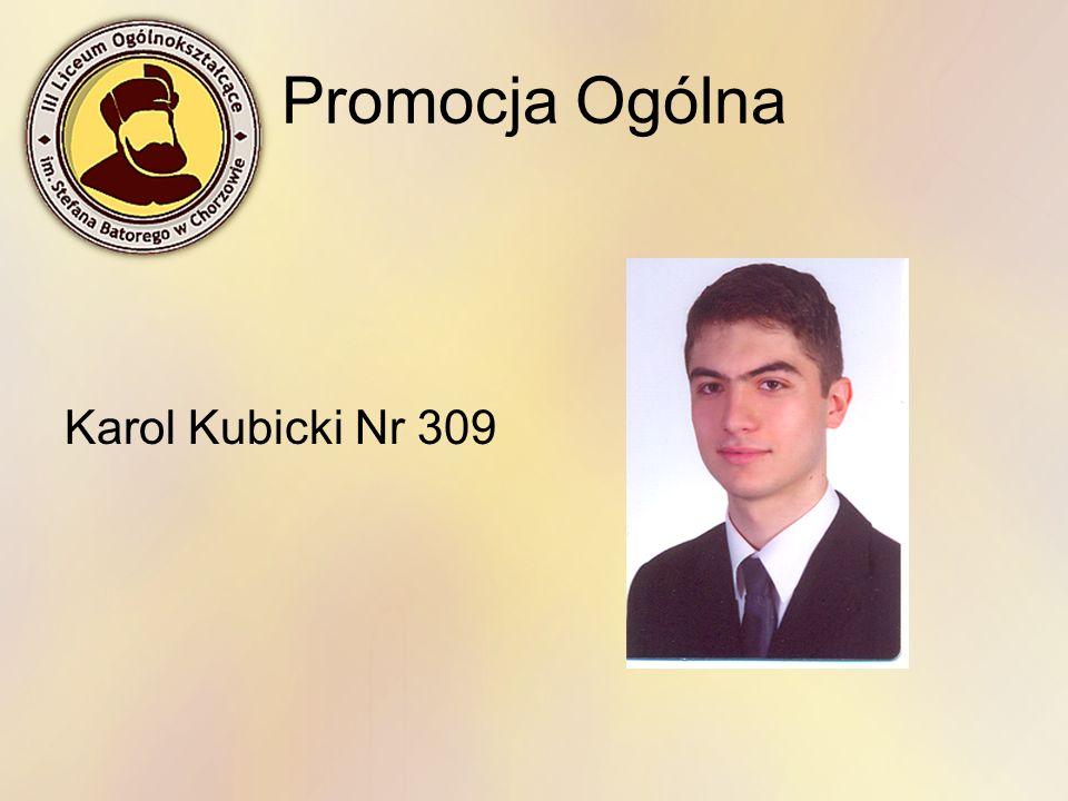 Promocja Ogólna Karol Kubicki Nr 309