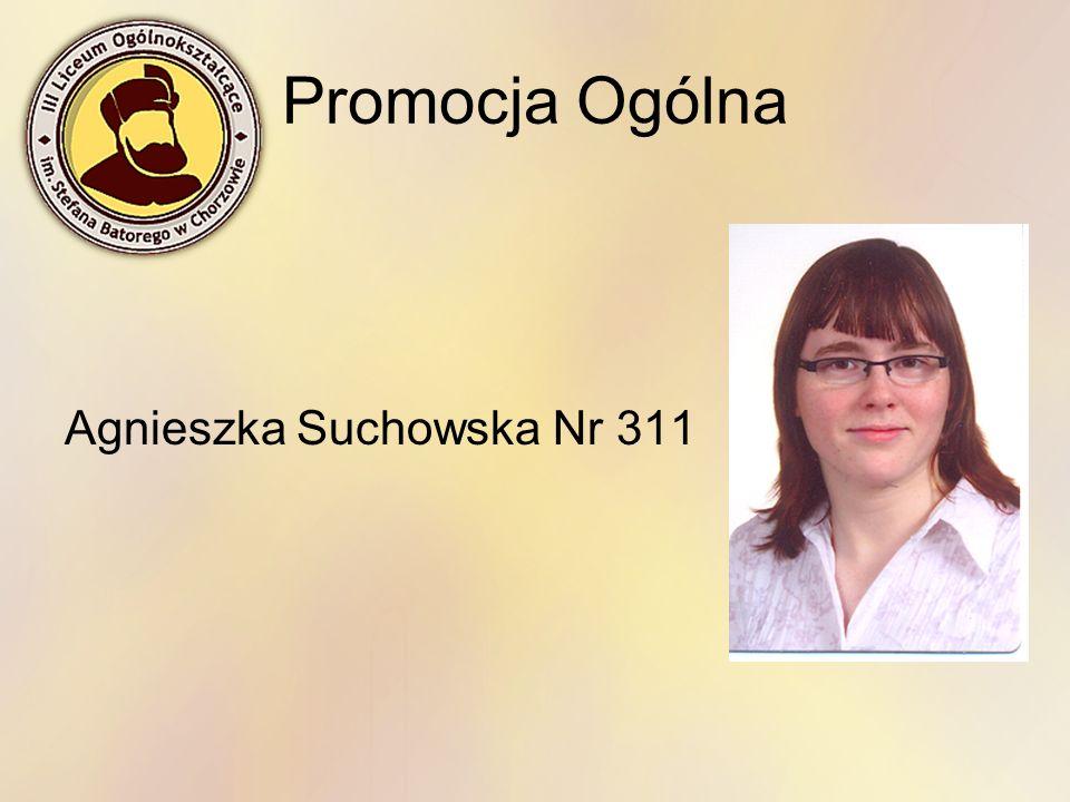 Promocja Ogólna Agnieszka Suchowska Nr 311