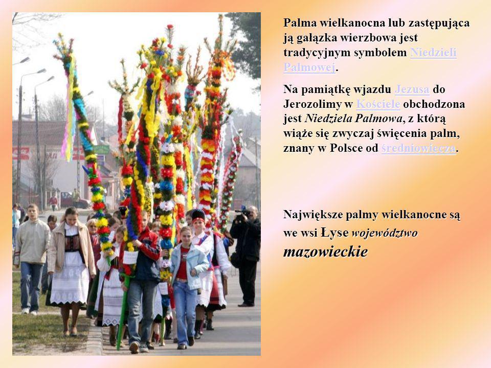 Palma wielkanocna lub zastępująca ją gałązka wierzbowa jest tradycyjnym symbolem Niedzieli Palmowej. Niedzieli PalmowejNiedzieli Palmowej Na pamiątkę