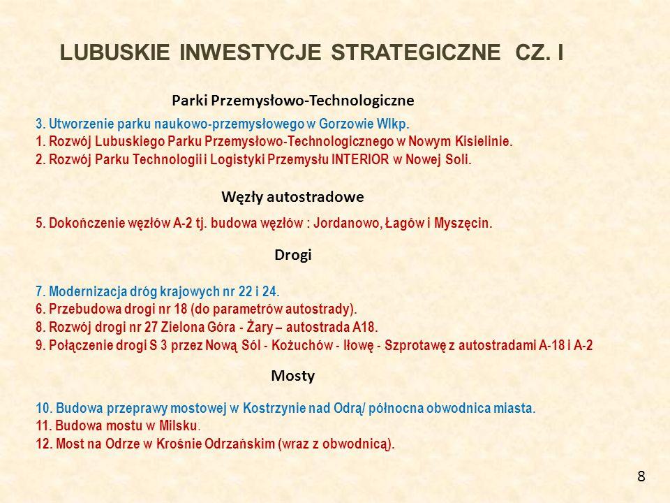LUBUSKIE INWESTYCJE STRATEGICZNE CZ.II Rozbudowa lotniska Zielona Góra - Babimost 17.