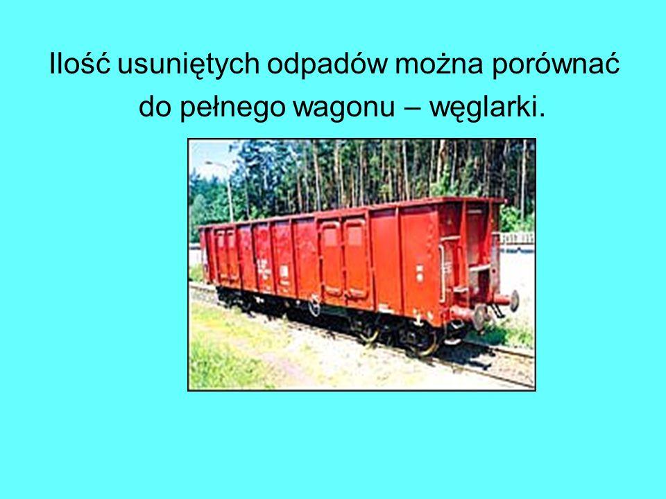 Ilość usuniętych odpadów można porównać do pełnego wagonu – węglarki.