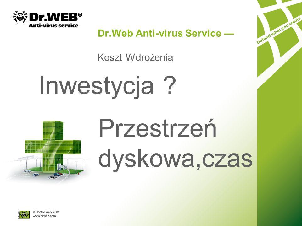 Dr.Web Anti-virus Service Koszt Wdrożenia Inwestycja Przestrzeń dyskowa,czas