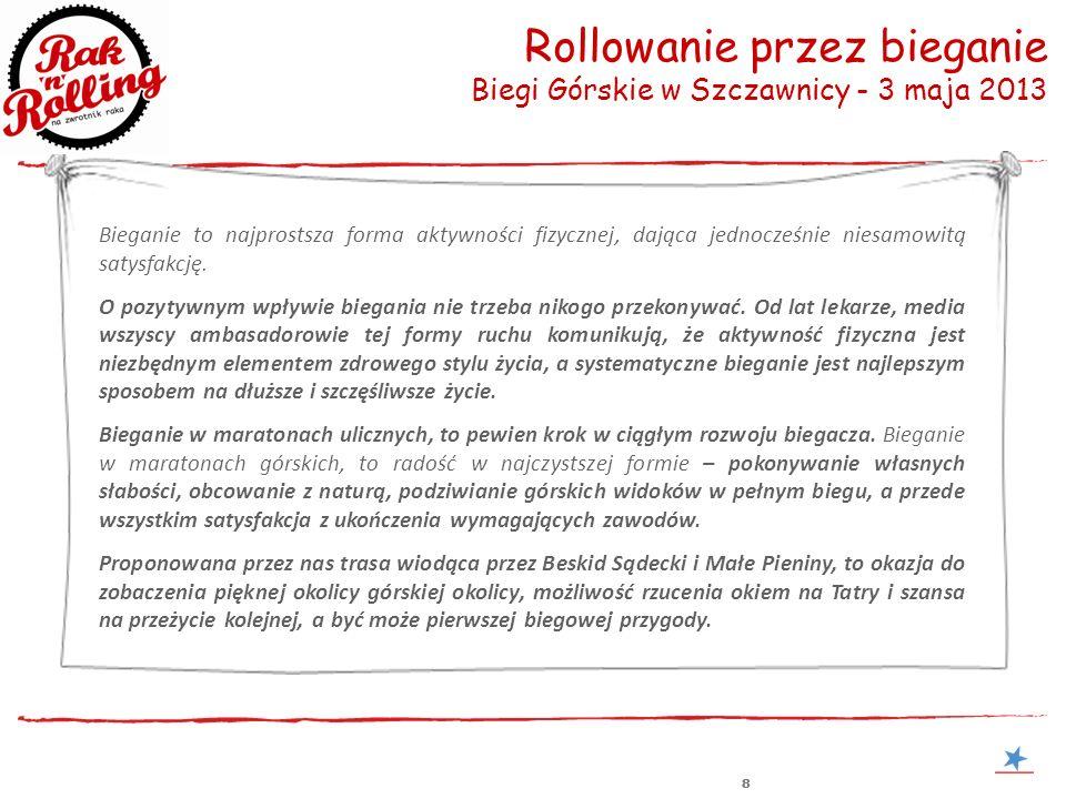 888 Rollowanie przez bieganie Biegi Górskie w Szczawnicy - 3 maja 2013 Zaproszenie na wernisaż Bieganie to najprostsza forma aktywności fizycznej, daj
