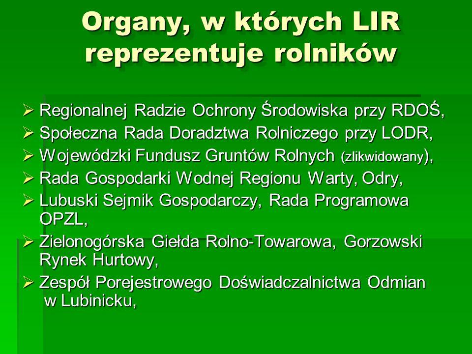 Organy, w których LIR reprezentuje rolników Regionalnej Radzie Ochrony Środowiska przy RDOŚ, Regionalnej Radzie Ochrony Środowiska przy RDOŚ, Społeczn