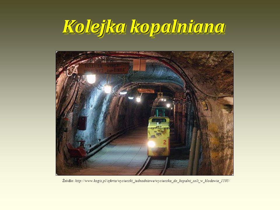 Kolejka kopalniana Źródło: http://www.kogis.pl/oferta/wycieczki_jednodniowe/wycieczka_do_kopalni_soli_w_klodawie_1595/