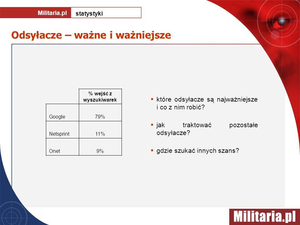 Odsyłacze – ważne i ważniejsze Militaria.pl statystyki które odsyłacze są najważniejsze i co z nim robić? jak traktować pozostałe odsyłacze? gdzie szu