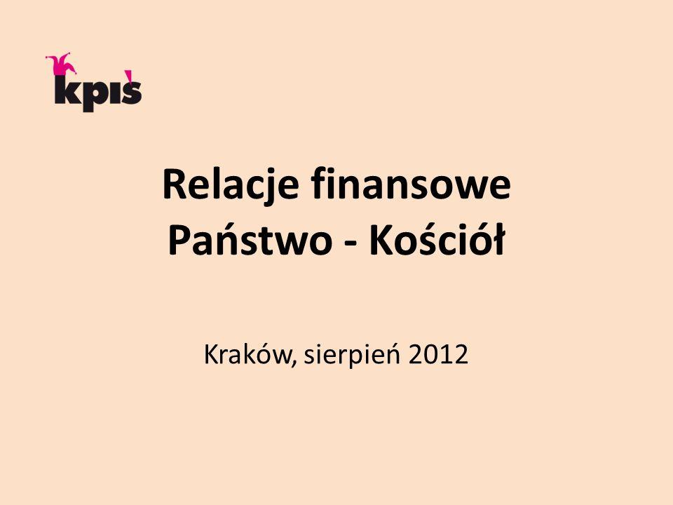 Relacje finansowe Państwo - Kościół Kraków, sierpień 2012