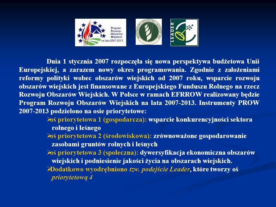 Dnia 1 stycznia 2007 rozpoczęła się nowa perspektywa budżetowa Unii Europejskiej, a zarazem nowy okres programowania. Zgodnie z założeniami reformy po